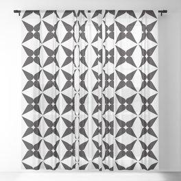 Geometric Pattern 245 (black crosses) Sheer Curtain