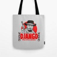 django Tote Bags featuring Django logo by Buby87