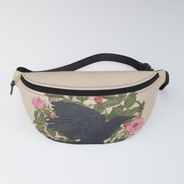Raven and roses Fanny Pack
