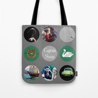 captain swan Tote Bags featuring Captain Swan by Your Friend Elle