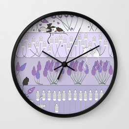 Love in Lavender Wall Clock