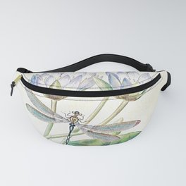 lotus and dragonfly Fanny Pack