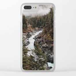 Wilderness-green nature Clear iPhone Case