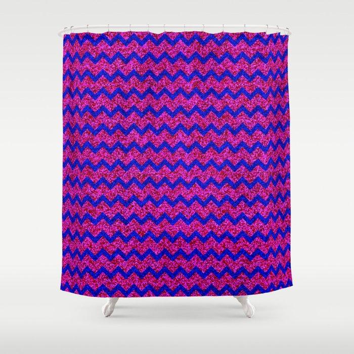 Chevron Glitter Pattern 02 Shower Curtain