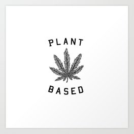 plant based marijuana leaf Art Print