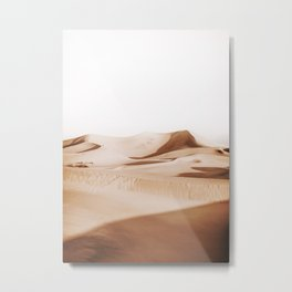 Minimal Warm Desert Metal Print