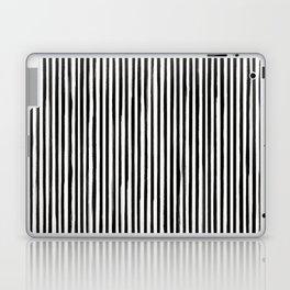 Skinny Stroke Vertical Black on Off White Laptop & iPad Skin