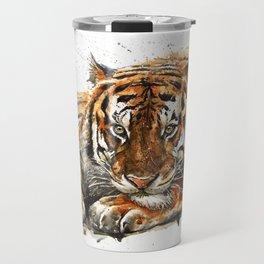 Tiger watercolor Travel Mug