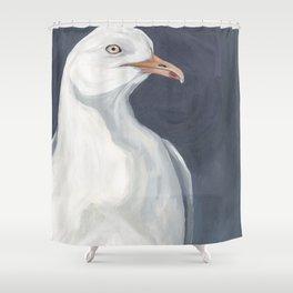 Herring Gull Portrait Bird Beach Shower Curtain