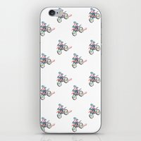 motorbike iPhone & iPod Skins featuring Motorbike by June Chang Studio