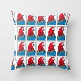 Scarlet Macaw Pattern print Throw Pillow