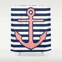anchor Shower Curtains featuring Anchor by dani