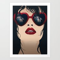 bmw Art Prints featuring BMW Girl by Seventy Two Studio