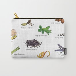 Tea Ingredients Medley Carry-All Pouch