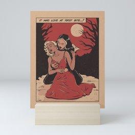 love at first bite Mini Art Print