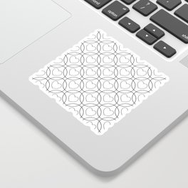 Decor with circles and hearts Sticker