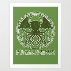 R'lyeh Island Art Print