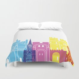 Exeter skyline pop Duvet Cover