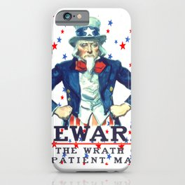 Beware The Wrath Of  A Patient Man Patriotic Star iPhone Case