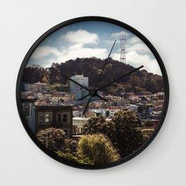 San Francisco landscape Wall Clock