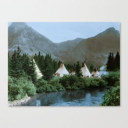 Blackfoot Camp Up the Cutbank in Montana Canvas Print