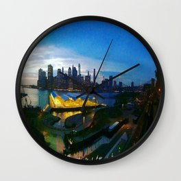 New York City as viewed from the Beautiful Brooklyn Heights Wall Clock