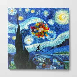 starry night flying jordan Metal Print