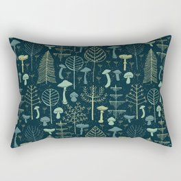 Magic Forest Green Rectangular Pillow