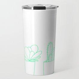 Succulents (Minty Palette) Travel Mug