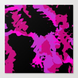Fuchsia and black abstract Canvas Print