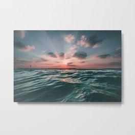 water sunset Metal Print