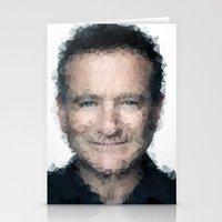 robin williams Stationery Cards featuring Robin Williams by lauramaahs