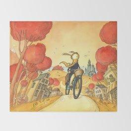 Bike Adventure Throw Blanket