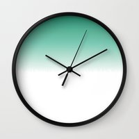 gradient Wall Clocks featuring gradient by Kozza