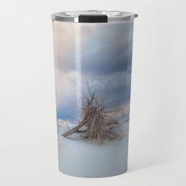 Adrift - Lone Tree In White Sands New Mexico Travel Mug