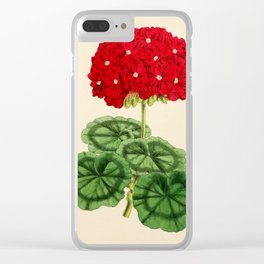 Smith, Worthington G. (1835-1917) - The Floral Magazine 1869 - Double Pelargonium Clear iPhone Case