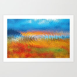 colorful vibrations Art Print