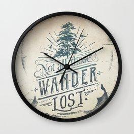 Im a wanderer Wall Clock