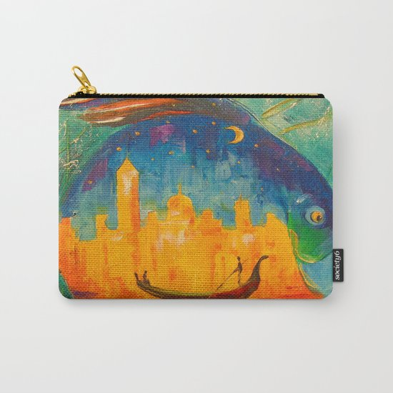 Romantic fish Carry-All Pouch