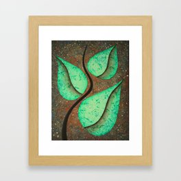 First Greens in Space Framed Art Print