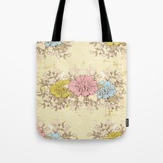 Vintage Floral - Pattern 01 Tote Bag