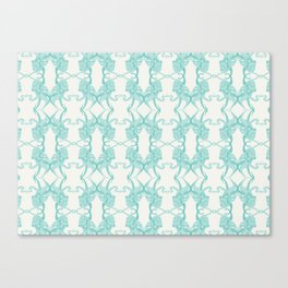 Blue Octacluar Octopus Canvas Print