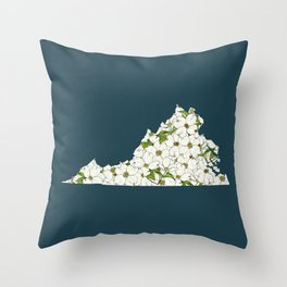 Virginia in Flowers Throw Pillow
