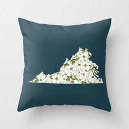 Virginia in Flowers Throw Pillow