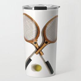 vintage Tennis rackets and ball Travel Mug