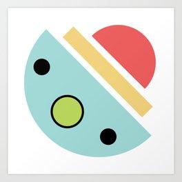 Chatty spaceship Art Print