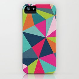 Geometric Triangle Pattern  - Spring Color Palette - iPhone Case