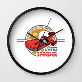 Landspeeder Wall Clock