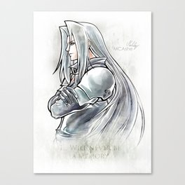 Sephiroth Artwork Final Fantasy VII Canvas Print