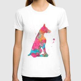 Colorful Doberman T-shirt